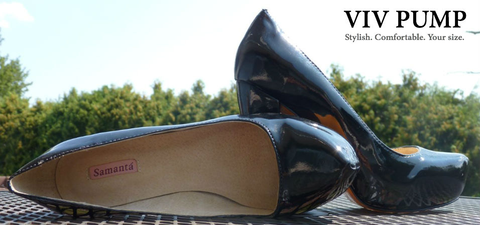 Viv Pump Wide Shoe Samanta Offers Large Size Women S